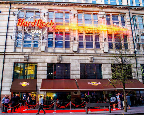 Restaurants near the Royal Exchange Manchester - Hard Rock Cafe Manchester