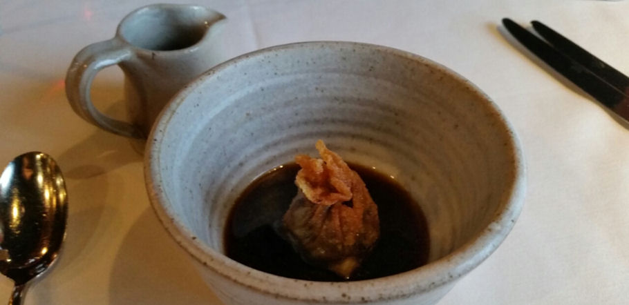 James Martin Manchester -  Roast celeriac broth, Yorkshire Wagyu beef cheek, smoked eel