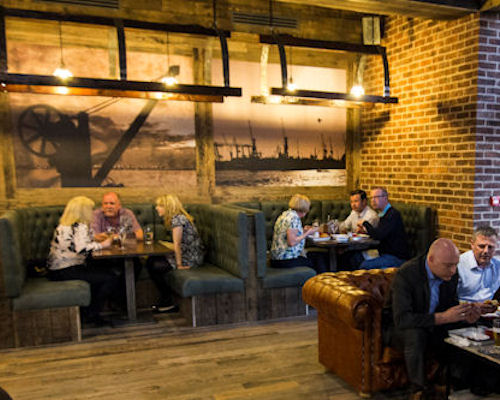 Restaurants near the Royal Exchange Manchester ~ The Dockyard Spinningfields